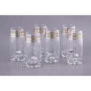 """Набор стаканов для воды из 6 шт.""""ретро зеленый"""" 400 мл. (809645) фото"""