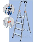 Лестницы-стремянки алюминиевые полупрофессиональные Krause Safety 8 арт.126368 фото