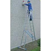 Лестницы двухсекционные универсальные Krause STABILO Двухсекционная алюминиевая лестница с 2x9 перекладинами,123213 фото