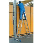 Лестницы-стремянки алюминиевые профессиональные Krause STABILO Шарнирная двухсекционная с 2x6 перекладинами,123534 фото