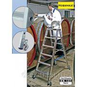 Лестницы-стремянки алюминиевые профессиональные Krause STABILO с 2x4 ступенями,двусторонняя, передвижная 124821 фото