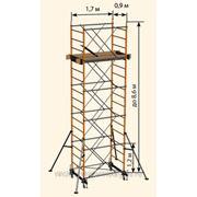 """Вышка-тура """"Радиан-Омега"""" облегченная 1,70х0,9 м, высота 3,80 м фото"""