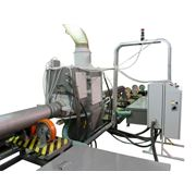 Установка для гидроабразивной очистки наружной поверхности труб. фото