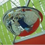 Купольное зеркало (полусфера) на потолок d-800х360мм фото