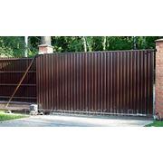 Ворота откатные из профлиста фото