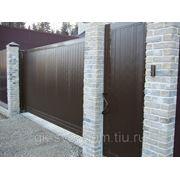 Уличные откатные ворота DoorHan 4500x2100. фото