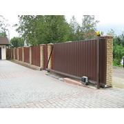 Ворота откатные (профнастил с 2-х сторон) с автоматикой CAME фото