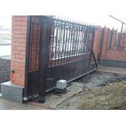 Откатные ворота с приводом фото