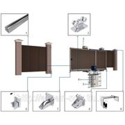 Система роликов и направляющих для сдвижных ворот для балки 138х143х6 фото