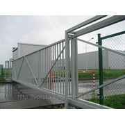 Ворота автоматические откатные со встроенной калиткой фото