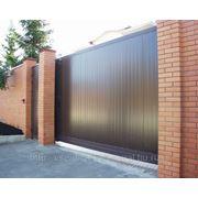 Комплект откатных ворот: ширина 3500 мм высота 2100 мм фото