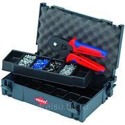 Инструмент для опрессовки кабеля Knipex Набор контактных гильз с инструментом для опрессовки 979009 фото