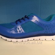 Кроссовки синие ZYL16008 фото