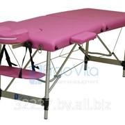 Складной массажный стол алюминиевый ErgoVita CLASSIC ультра-легкий (2-х секционный,розовый) фото