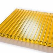 Поликарбонат сотовый 8мм желтый лист 8х3000х2100 фото