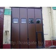 Складные ворота ДорХан для индустриальных объектов фото
