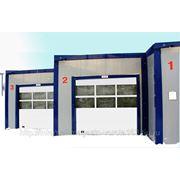Секционные промышленные ворота ISD02 фото