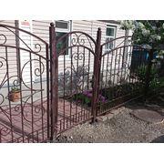 Забор металлический секционный фото