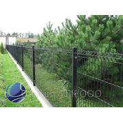 Забор секционный металлический оцинкованный с полимерным покрытием фото