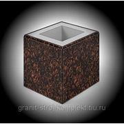Блок-столб для сборки конструкции ограждения из каменных элементов фото