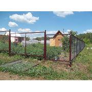заборные секции из оцинкованной сетки и столбы в Новосибирске