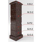 Блок-столб из камня опорный средний для каменного ограждения фото