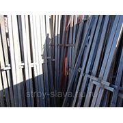 Столб заборный с профильн.трубы фото