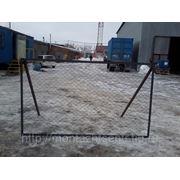 Заборные секции из сетки-рабица в рамке из уголка 40*40 фото