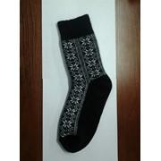 Носки мужские черные с геометрическим рисунком фото