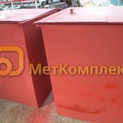 Контейнеры для ТБО 0,75 м3 с крышкой фото