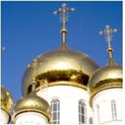 Высотный фейерверк Золотые купола фото