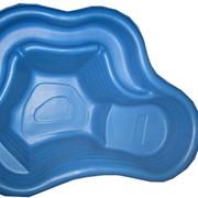 Садовый пластиковый пруд 150 синий фото