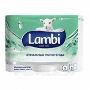 Lambi Бумажные полотенца - 3 рул/уп, 95 л/рул, 3 слоя фото