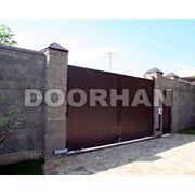 Комплект распашных ворот (цвет коричневый) ш4430*в2200 фото