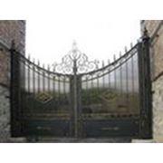 Ворота металлические кованные. от4500руб.кв.м фото