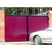 Ворота уличные из профлиста. фото