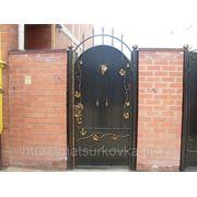 Ворота, калитки кованые фото