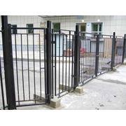 Металлические сварные ворота Арт. СВ-01 фото