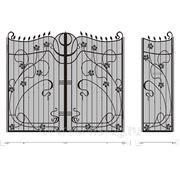 Кованые ворота №51 фото