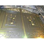 Ворота из художественной ковки фото