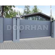 Сдвижные автоматические ворота DHSS-3500 x 2100 коричневый RAL8014 фото