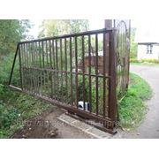 Ворота с элементами ковки фото