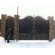 """Кованые ворота,калитка,забор """"Эдинбург"""" фото"""
