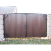 Кованые ворота 7 фото