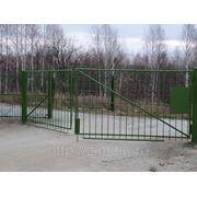 Ворота металлические изготовление и монтаж фото