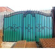 Ворота с калиткой №21 фото