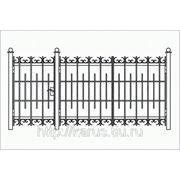 Сварные металлические ворота Михнево фото