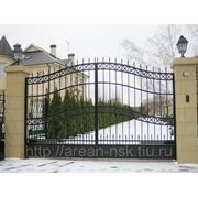 Металлические сварные ворота Арт. СВ-02 фото