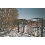 Металлические сварные ворота Арт. СВ-07 фото