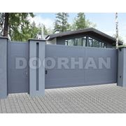Сдвижные автоматические ворота DHSS-4000 x 2100 коричневый RAL8014 фото